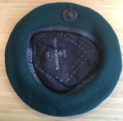 1945 Original Kangol Wear Limited Green Wool Beret With Badge And Sailors Hat