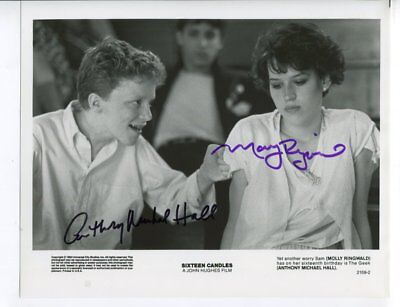 MOLLY RINGWALD & ANTHONY MICHAEL HALL autograph HAND SIGNED 5371