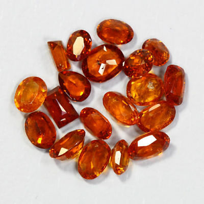8.41 Cts_Amazing Wholesale~Fanta Color_100 % Natural Mandarin Spessartite Garnet
