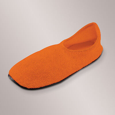 Non-Skid Slippers With Rubber Soles By Posey, #6244. Orange