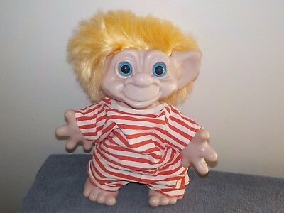Vintage Large 10'' Troll w/ Blonde Hair 1985 The Stumpy Bunch Collection Figure