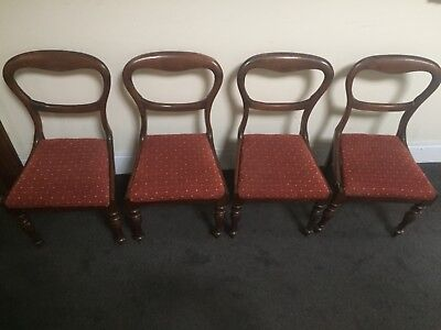 Set of 4 antique victorian dining chairs for small restoration