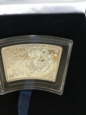 Chinese Silver Commemorative Coin Year Of Dragon One Ounce COA 2012