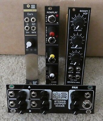 Mutable Ears preamp + Ladik sample player + EMW VCF + Synthrotek mixer Eurorack