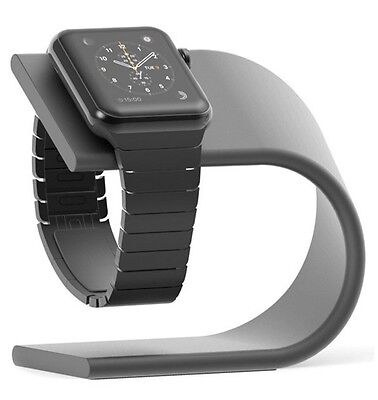 Apple Watch Stand Charging Dock - Space Grey Aluminium - NEW