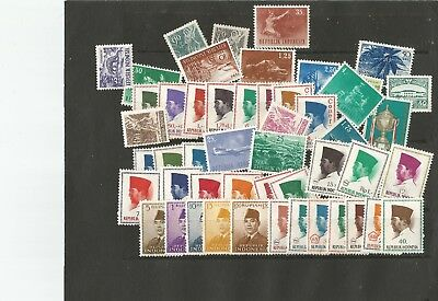 Indonesia Stamp Mixture Mint Few L/hinged