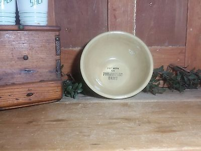 "Watt Advertising POCAHONTAS DAIRY IA Bowl White Blue Primitive 7"" Pottery IFGT"