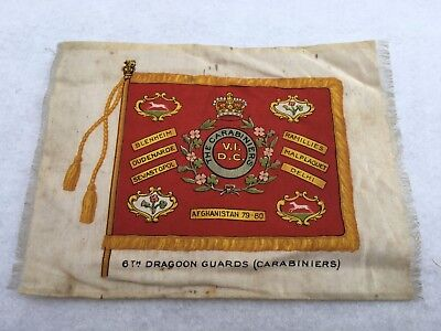 6th Dragoon Guards (Carabiniers) Small Regimental Silk Colours