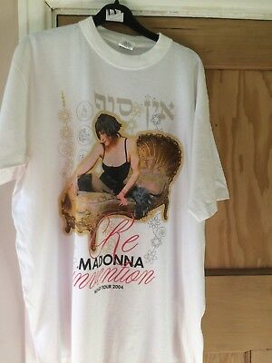 madonna reinvention tour t-shirt tee uk large chest 48