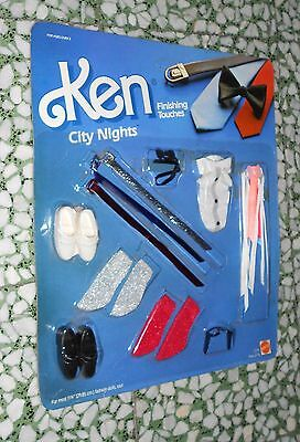 Ken Outfit City Night Finishing Touches Shoes Accessories Card Misb Moc