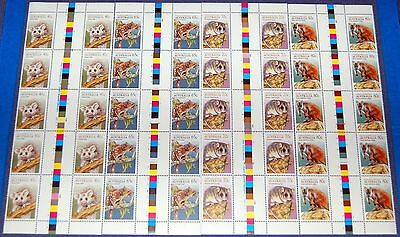 1990~AUSTRALIA~Sc#1166-69~ANIMALS OF THE HIGH COUNTRY COMPLETE SET 4 MINI SHEETS