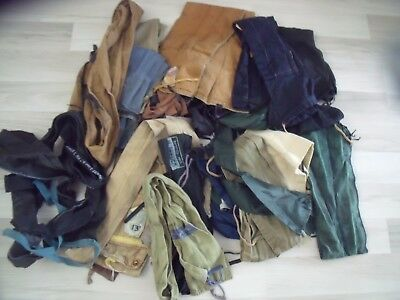 24 X  Fishing Rod Bags Mostly Vintage Bags Mixed Sizes In Vgc
