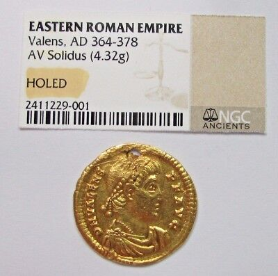 Eastern Roman Empire Valens Gold Solidus