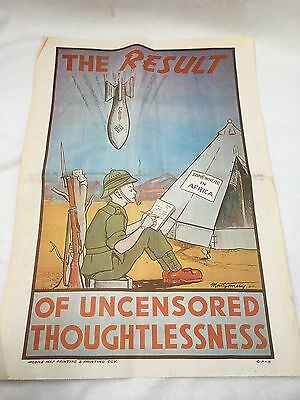 World War 'The Results Of Unlicensed Thoughtlessness' Poster (2)