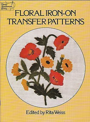Floral Iron-On Transfer Pattern Booklet - New