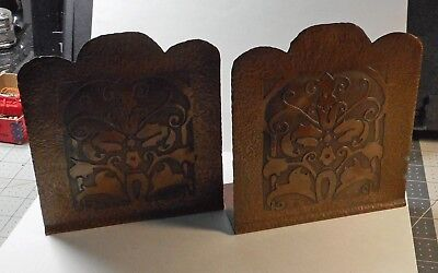 Arts & Crafts Copper Bookends; c.1930's