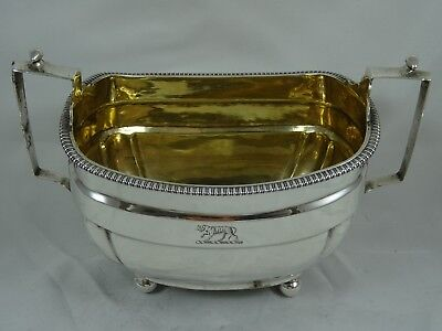 ATTRACTIVE, GEORGE III silver SUGAR BOWL, 1807, 284gm