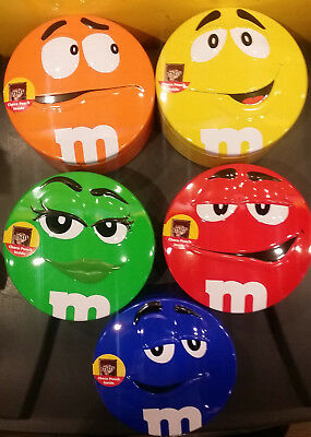 M&M Metal Candy Box 1 set 5pcs Red Yellow Orange Blue Green Characters
