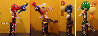 M&M Light Up Candy Fan Set of 4 Characters Red Yellow Blue Green