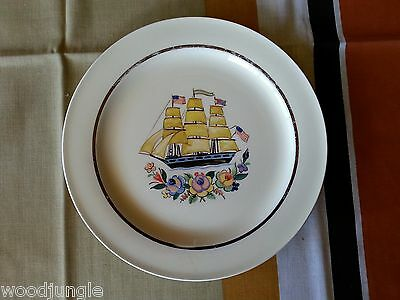 RARE Antique EDWIN M KNOWLES POTOMAC PLATE CLIPPER SHIP CIVIL WAR REVOLUTIONARY
