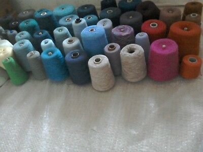 Knitting machine yarn, 50 mixed cones job lot -  a real bargain!