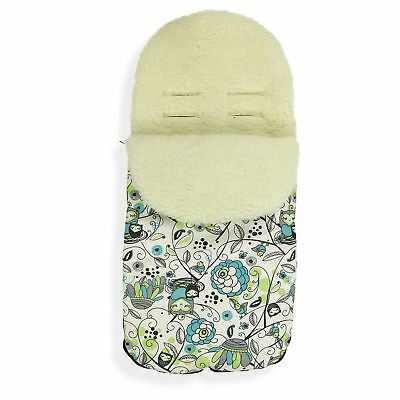 FOOTMUFF Natural WOOL LINING PUSHCHAIR BUGGY STROLLER BABY COSY TOES P106