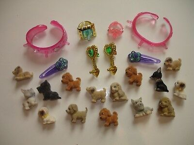 Vintage Collectable Rare Puppy in my Pocket Clip On Jewellery Bundle