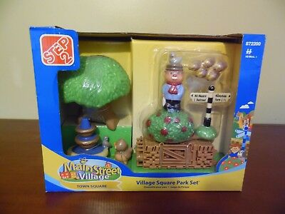 Step 2 Main Street Village VILLAGE SQUARE PARK SET New in Box