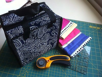 Pretty Fat Quarter Storage Quilting Craft,Sewing,Carry Fabric In Protective Bag