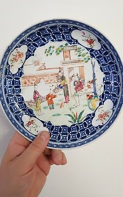Antique Chinese polychrome plate