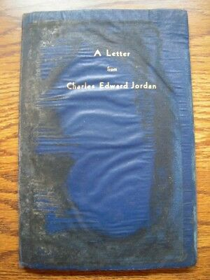 Confederate - A Letter from Charles Edward Jordan - 1st edition - 1932