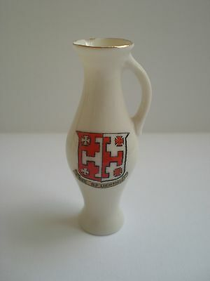 Vintage W H Goss Crested China - Jug -See Of Lichfield
