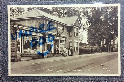 Denmead - The Post Office - WT Restall -unused card