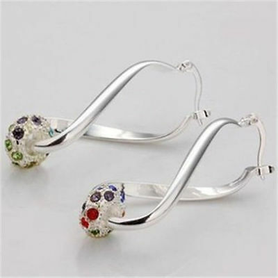 Fashion Jewellery Xmas Gift Fine Solid 925 Sterling Silver charm Lady Earring
