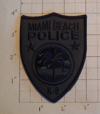 Miami Beach (FL) Subdued Police Department K-9 Unit Patch              ***NEW***