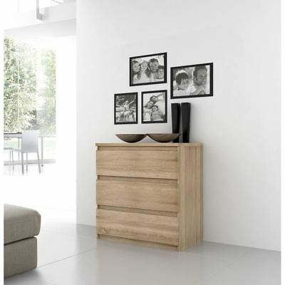 FINLANDEK Commode NATTI contemporain décor chene - L 77,2 cm