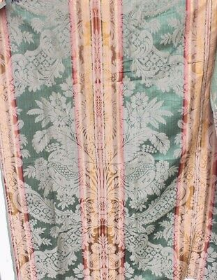 "Antique 19thC French Silk Emerald Green ""Emberline"" Silk Frame Fabric c1860-1870"