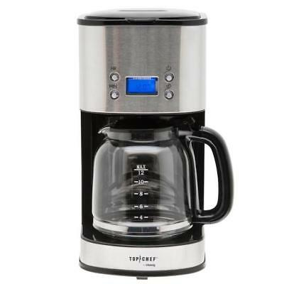 TOP CHEF TOPC 558 Cafetiere a filtre programmable - Inox