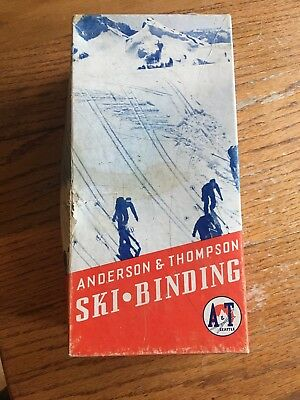 Anderson & Thompson Cable Ski Bindings Downhill Cross Country  vintage in box