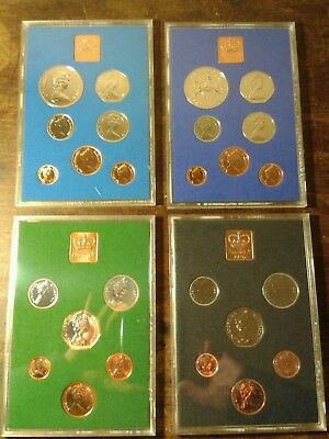 1972, 1975, 1976, 1977 Uk Proof Coin Sets