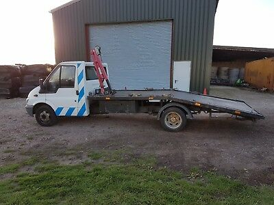 2001 Ford Transit 350 Lwb Twin Wheel Recovery Truck / Transporter / Beaver Tail