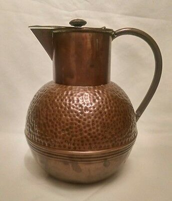 Victorian Beaten Copper Milk Can by Henry Loveridge Co.