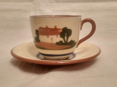 Dartmouth Pottery Motto Ware Cup & Saucer - Hope On Hope Ever