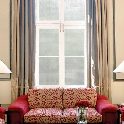 Self Adhesive Window Glass Sticker Film Frosted Privacy Waterproof Decor Durable
