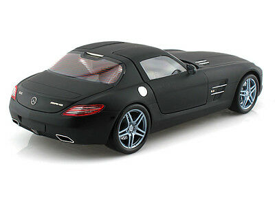 Rare Mercedes SLS MATT BLACK 1/18 scale Boxed Immaculate & Stunning & Heavy !