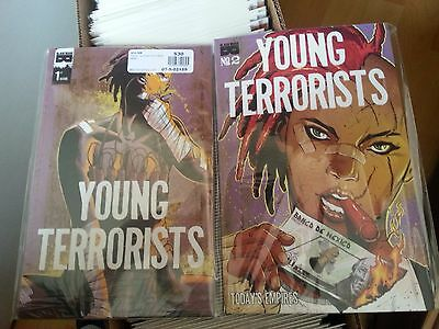 Young Terrorists. #1 and #2 Black Mask Comics first prints