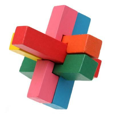 Wooden Educational Toys Brain Teaser Game 3D Wooden Cross Puzzle for Kids