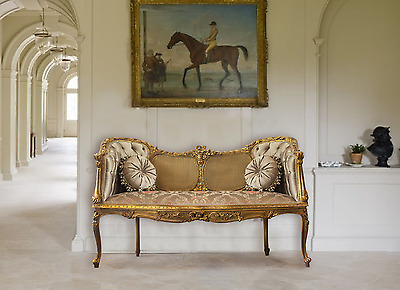 French Country LOVESEAT Louis xv Shabby Chic Lounge Chaise Chair laura ashley