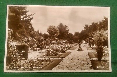 Valentines Real Photo Postcard - Town Gardens, Swindon - 1956
