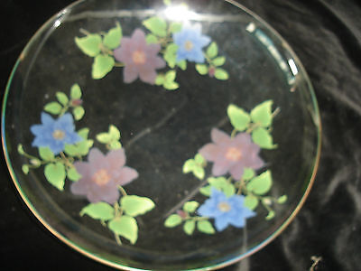 """Large Chance Glass Clematis Bowl 11.75"""" Across---1971"""
